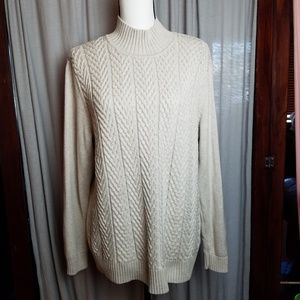 Croft and Barrow cable Sweater knit turtleneck